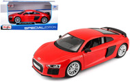 AUDI R8 V10 PLUS RED 1/24 SCALE DIECAST CAR MODEL BY MAISTO 31513