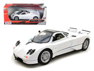 Pagani Zonda C12 White 1/24 Scale Diecast Car Model By Motor Max 73272