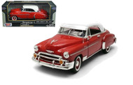 1950 Chevrolet  Bel Air Red 1/24 Scale Diecast Car Model By Motor Max 73268