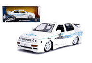 VOLKSWAGEN JETTA JESSES FAST & FURIOUS WHITE 1/24 SCALE BY JADA 99591