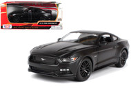 2018 Ford Mustang GT Matte Black 1/24 Scale Diecast Model By Motor Max 79352