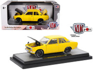 1970 Datsun 510 Yellow JDM Auto Japan 1/24 Scale Diecast Car Model By M2 Machines 40300-JPN01B