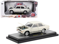 1970 Datsun 510 Cream JDM Auto Japan 1/24 Scale Diecast Car Model By M2 Machines 40300-JPN02B
