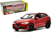Alfa Romeo Stelvio Red 1/24 Scale Diecast Car Model By Bburago 21086
