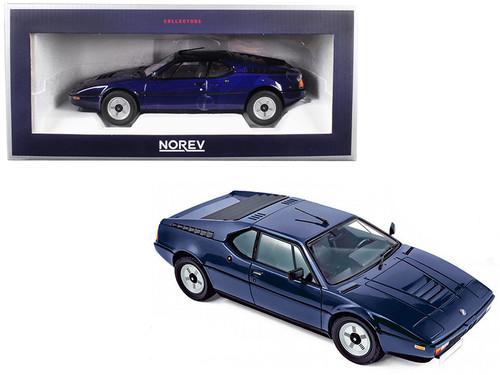 1980 BMW M1 Dark Blue 1/18 Scale Diecast Car Model By Norev 183224