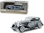 Duesenberg II SJ Silver 1/18 Scale Diecast Car Model By Greenlight 13525
