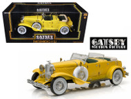 1934 Duesenberg II SJ Yellow The Great Gatsby 1/18 Diecast Car Model By Greenlight 12927