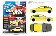 1998 Honda Civic Yellow Carbon Fiber Hood 4800 Made MIJO 1/64 By Johnny Lightning JLCP7174