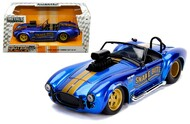 1967 SHELBY COBRA 427 S/C WITH BLOWER CANDY BLUE 1/24 SCALE BY JADA 30706