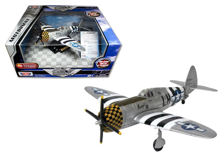 P-47 Thunderbolt Airplane Diecast Metal & Plastic 1/48 Scale By Motor Max  76316