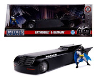 Batman Animated Series Batmobile With Figure 1/24 Scale Diecast By Jada 30916