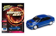 2004 Mitsubishi Lancer Evolution EVO Blue Import Heat 1/64 Scale By Johnny Lightning JLCP7123