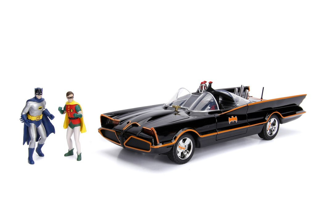 Batmobile Batmobile with Batman /& Robin 1966 1//18-98625 JADA TOYS