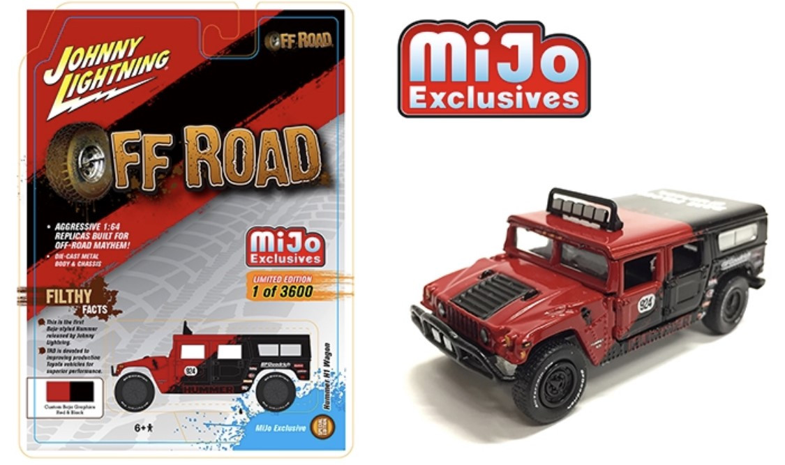 Off Road Wagon >> Hummer H1 Wagon Custom Baja Off Road Red Mijo 1 64 Scale By Johnny Lightning Jlcp7154