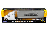 Freightliner Columbia Container White & Grey Semi Truck & Trailer 1/32 By Welly 32621
