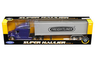 Freightliner Columbia Container Blue & Grey Semi Truck & Trailer 1/32 By Welly 32621