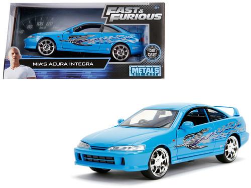 Acura Integra Mias Blue Fast & Furious 1/24 Scale Diecast Car Model By Jada 30739