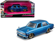 1971 Datsun 510 Blue JDM Tokyo Model 1/24 Scale Diecast Car Model By Maisto 32527