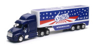 Peterbilt Tractor 3 Axle Dry Van Trailer Semi Truck Nitro Circus 1/32 Scale By Newray 10953