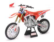 Honda CRF 450R #14 Cole Seely Dirt Bike Team Honda 1/6 By Newray 49603