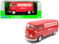 1963 Volkswagen T1 Bus Porsche 1/18 Scale Diecast Car Model By Welly 18053