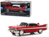 1958 Plymouth Fury Christine Evil Version Blacked Out Window 1/24 Scale Diecast Car Model By Greenlight 84082