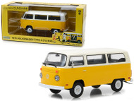 1978 Volkswagen Type 2 T2 Bus Little Miss Sunshine 1/24 Scale Diecast Car Model By Greenlight 84081