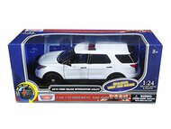 2015 Ford Police Interceptor Utility Light & Sound 1/24 Scale Diecast Model By Motor Max 79535