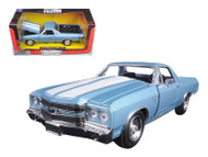 1970 Chevrolet El Camino SS Blue 1/24 Scale Diecast Car Model By Newray 71885