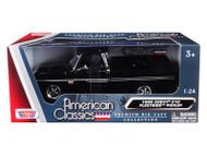 1966 Chevrolet C-10 Fleetside Pickup Truck Black 1/24 Scale Diecast Model By Motor Max 73355