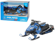 Polaris 800 Switchback Pro-X Snowmobile Blue 1/16 Scale By Newray 57783