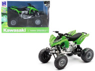 Kawasaki KFX 450R ATV Green 1/12 Scale Motorcycle Model By Newray 57503