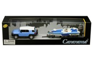 Toyota FJ Cruiser With Speed Boat & Trailer 1/43 Scale Model By Cararama 48116