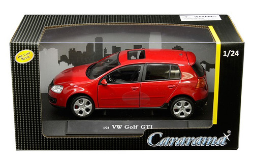 Volkswagen Golf GTI Red VW 1/24 Scale Diecast Car Model By Cararama 12503