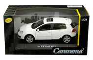 Volkswagen Golf GTI White VW 1/24 Scale Diecast Car Model By Cararama 12518