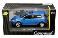 Volkswagen Golf GTI Blue VW 1/24 Scale Diecast Car Model By Cararama 12519
