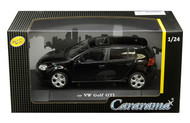 Volkswagen Golf GTI Black VW 1/24 Scale Diecast Car Model By Cararama 12577