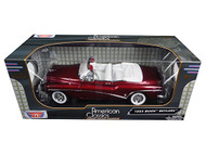 1953 Buick Skylark Convertible Burgundy 1/18 Scale Diecast Car Model By Motor Max 73129