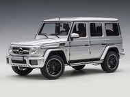 2017 Mercedes AMG G63 Silver 1/18 Scale Diecast SUV Model By AUTOart 76323
