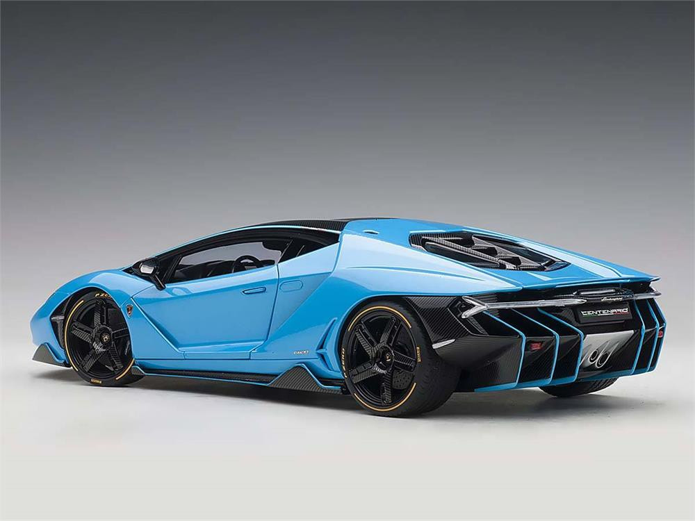 Lamborghini Centenario Blue Cepheus Light Blue 1 18 Scale Diecast