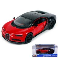 Bugatti Chiron Sport Red & Black 1/24 Scale Diecast Car Model By Maisto 31524