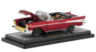 1957 Chevrolet Bel Air Convertible Satin Red Holley 1/24 Scale By M2 Machines 40300-68