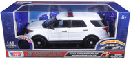 2015 Ford Police Interceptor Utility Police Lights & Sound 1/18 Scale Diecast Model Motor Max 73995