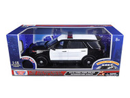 2015 Ford Police Interceptor Utility Police Lights & Sound 1/18 Scale Diecast Model Motor Max 73996