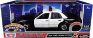 2001 Ford Crown Victoria Police Lights & Sound 1/18 Scale Diecast Model Motor Max 73991