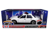 2001 Ford Crown Victoria Police Lights & Sound 1/18 Scale Diecast Model Motor Max 73992