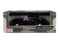 1964 1/2 Mustang Coupe Black 1/24 Scale Diecast Car Model By Motor Max 73273