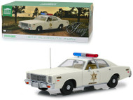 1977 PLYMOUTH FURY HAZZARD COUNTY SHERIFF 1/18 SCALE DIECAST CAR MODEL BY GREENLIGHT 19055