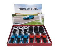 """Porsche 911 GT2 RS 5"""" Long Diecast Car Model Box Of 12 By Kinsmart KT 5408"""