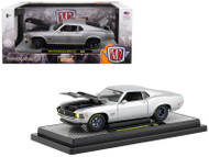 1970 Ford Mustang Boss 429 Matt Silver LE 5880 Made 1/24 Scale Diecast Car Model By M2 Machines 40300-71